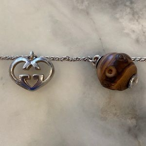 Gucci sterling bracelet with bamboo